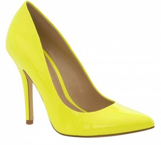 Zapatos amarillo neón para novia retro    Zapatos Aldo Shoes