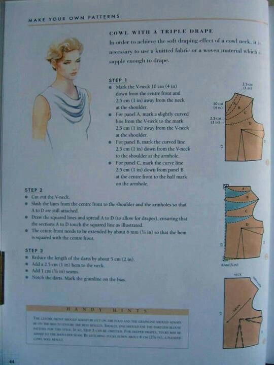 How to add a triple drape cowl