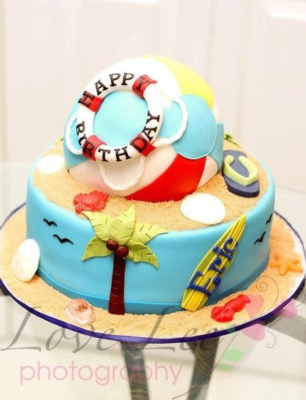 Beach Ball Cake - by CakesbyKimNC @ CakesDecor.com - cake decorating website