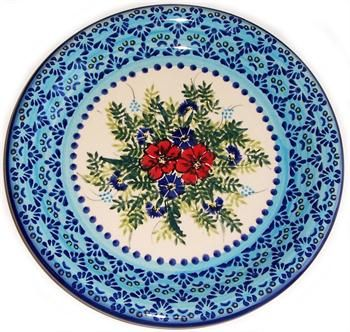 """Such a happy design! Polish pottery from """"Eva's Collection"""""""