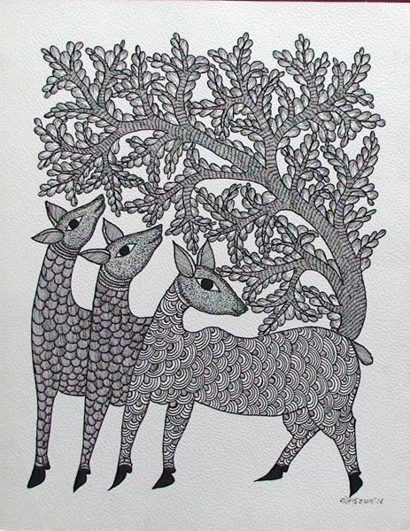 TOL-RS-16 by Rajendra Syam Size: 35x27.5cms @ Rs.6000/-