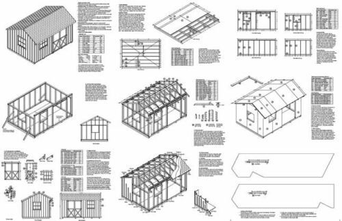 10' x 14' Saltbox Roof Garden Storage Shed Plans