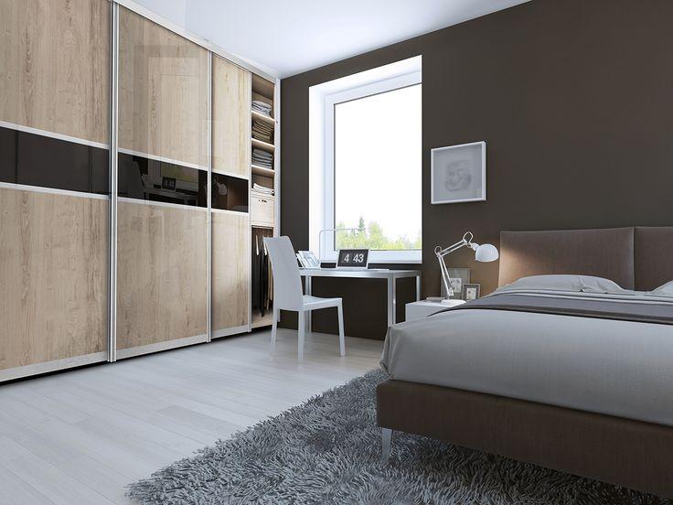 szafa z drzwiami przesuwnymi w sypialni, to funkcjonalne wykorzystanie miejsca.