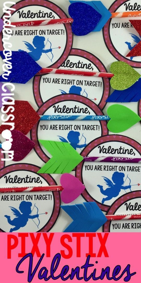 FREE Valentine card printable! These are really easy to make. Just pick yourself up a bag of Pixy Stix candy and some foam paper at the dollar store and grab your glue gun.
