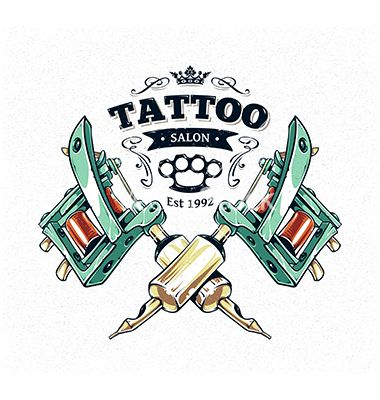 Tattoo machine gun print vector by morys on VectorStock®