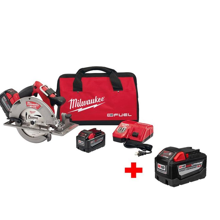 Milwaukee M18 Fuel 18-Volt Lithium-Ion Brushless 7-1/4 in. Cordless Circular Saw High Demand 9.0Ah Kit with Free 9.0Ah Battery