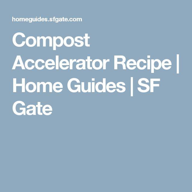 best 20 compost accelerator ideas on pinterest diy. Black Bedroom Furniture Sets. Home Design Ideas