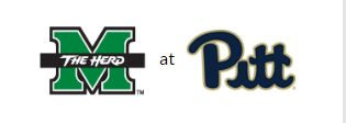 It't Game Day!   Marshall University takes on the Pitt Panthers today at 7:30 in Pittsburgh.  The game will be broadcast on Root Sports.  Go Herd! #goherd