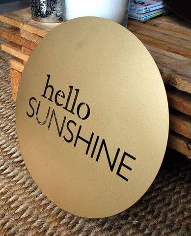 Hello Sunshine, Gold - Outdoor Art
