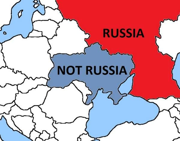 """Canada Trolls Russia. """"Geography can be tough. Here's a guide for Russian soldiers who keep getting lost and 'accidentally entering' #Ukraine."""""""