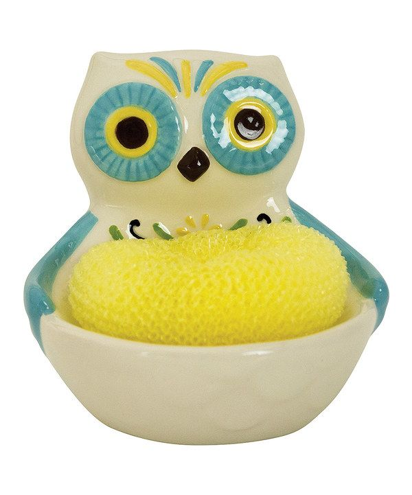 Look at this Floral Owl Scrubby Holder on #zulily today!