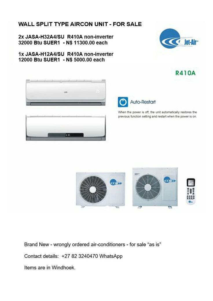 Wall Split Type Aircon Units - FOR SALE