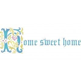 Use Stencils for Walls' Home Sweet Home Stencil on your walls, fabric, canvas or glass. Cheap, easy to use and very effective. Stencilling is a versatile and exciting way to accessorize on any flat surface of your choice. Our stencils produce high quality designs with minimum fuss.