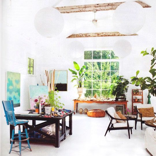 Beautiful backyard art studio space kim richelle 39 s art studio pinterest - Home art studio ...