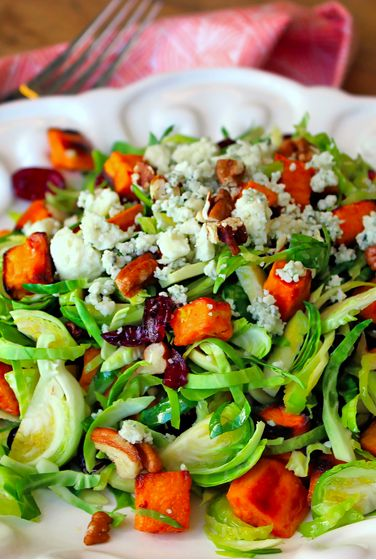 Shaved Brussel Sprout Sweet Potato Salad Recipe-  A medium sweet potato has over four times the recommended daily amount of vitamin A. Sponsored.