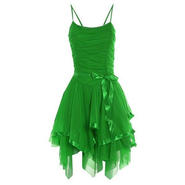 Amazon.com: Ladies Prom Strappy Evening Short Cocktail Party Layered... ($5) ❤ liked on Polyvore featuring dresses, cocktail prom dress, cocktail dresses, green cocktail dress, lime green dresses and bridesmaid dresses