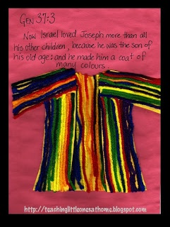 Teaching Little Ones At Home: God's Little Explorers: A Coat of many Colours
