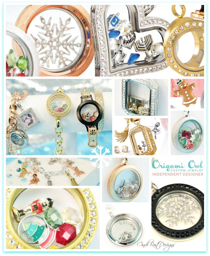 Origami Owl Holiday Collection 2014 Available to order tomorrow-10/16  www.janelle.origamiowl.com