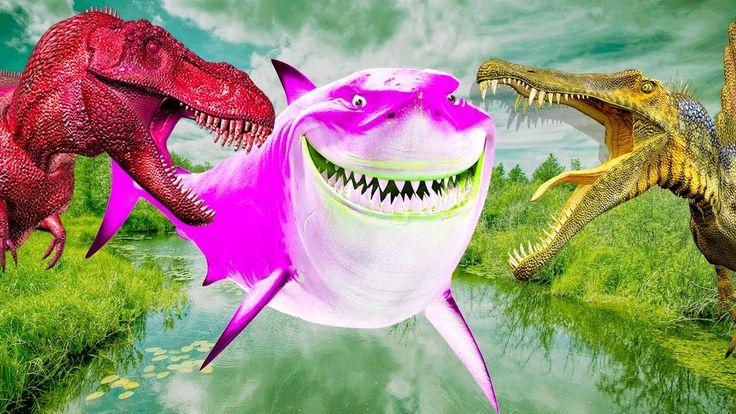 динозавры против акулы бой для детей 2017 года | динозавры полный эпизод...