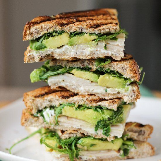 Turkey & Avocado Panini Fit Food, Fit Recipes, Avocado Paninis, Cheese ...