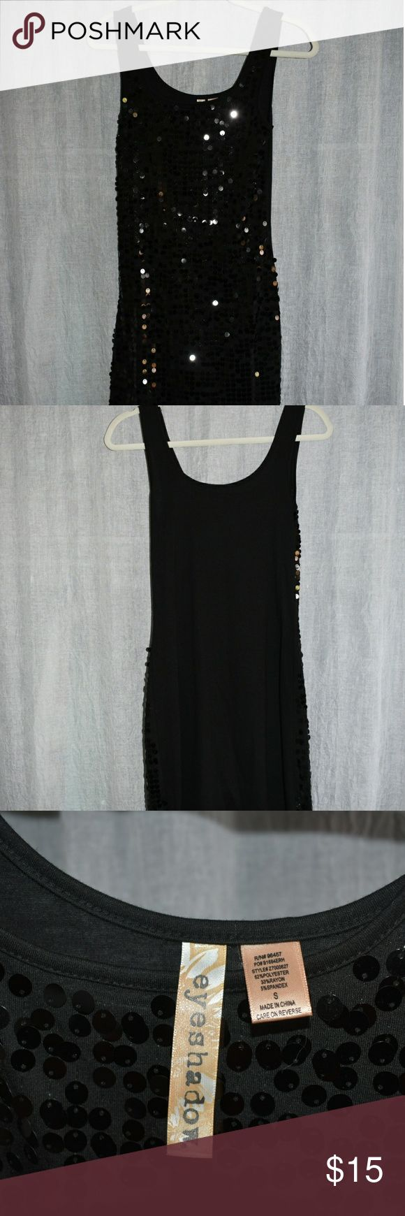 Black sparkly dress Super fun dress! Back of dress does not have sparkles. Eyeshadow Dresses Midi