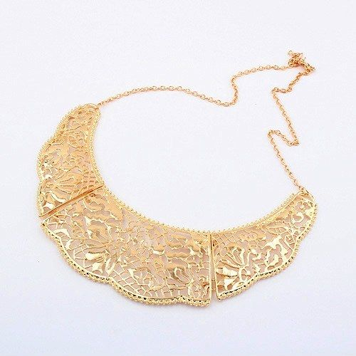 Delicate Hollow Gold Necklace - Online Shopping for Necklaces by Shimarra