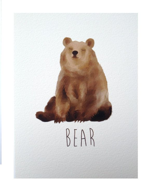 Bear by NikkiDotti  Like: no lines (besides the face) just hues.