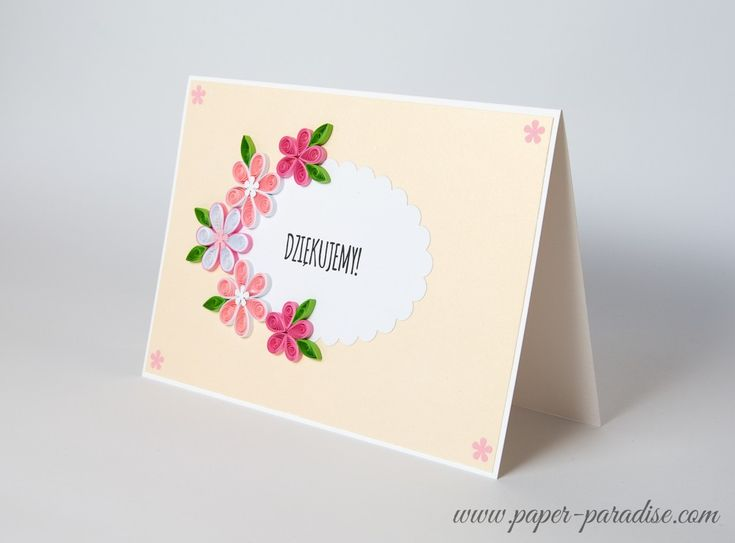 Unique Thank You Card Quilling by Paper Paradise