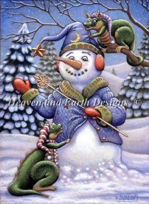 Snowman Magic - Cross Stitch Pattern