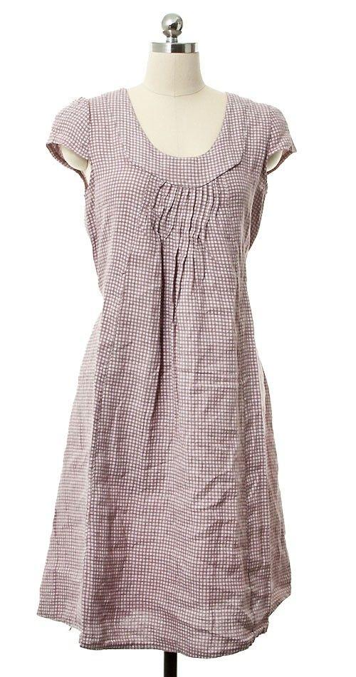 Leinenkleid mit Kurzarm - Rosa vonTalia Benson