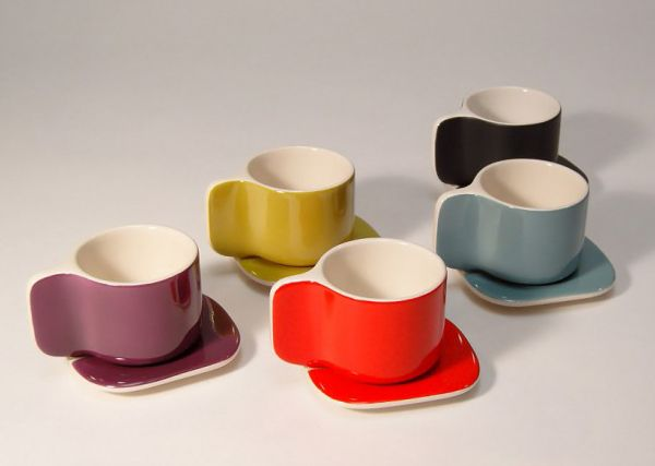 Designer Coffee Cup and Saucer by Sentou - Ti cups | Dining and Entertaining