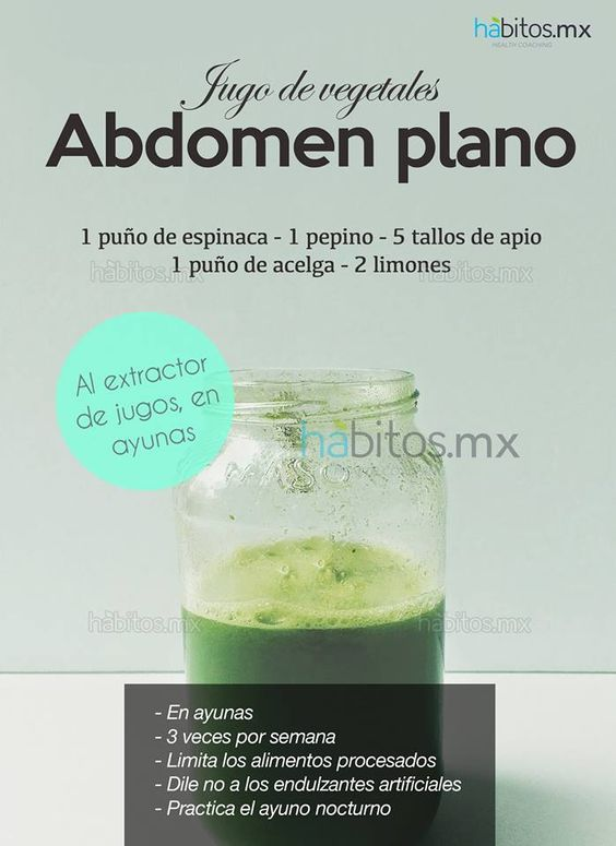 Hábitos Health Coaching   JUGO DE VEGETALES ABDOMEN PLANO