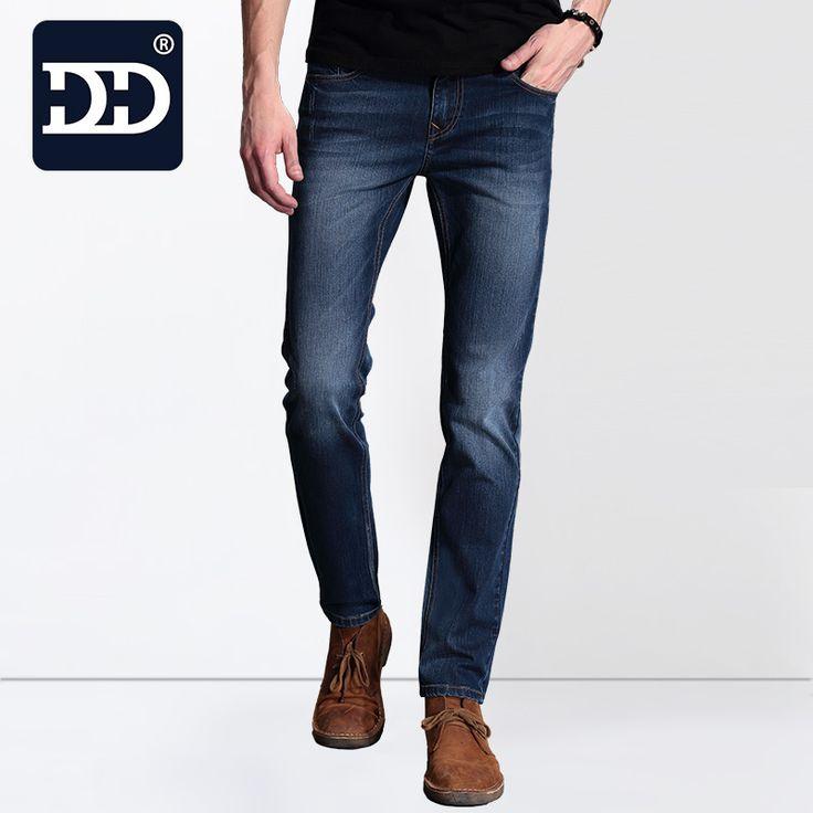 2016  Exclusive  Men Softener Deep Blue Jeans Homme Slim Elastic Factory Jeans Skinny Jeans Men Brand Mens Designer Jeans Pants