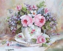 Tea Cup & Blooms - Postage is included Worldwide