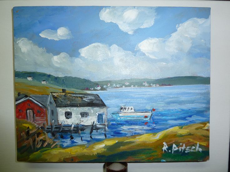 A painting from my travel to the East Coast in Canada by Rainer Pitsch.  SOLD