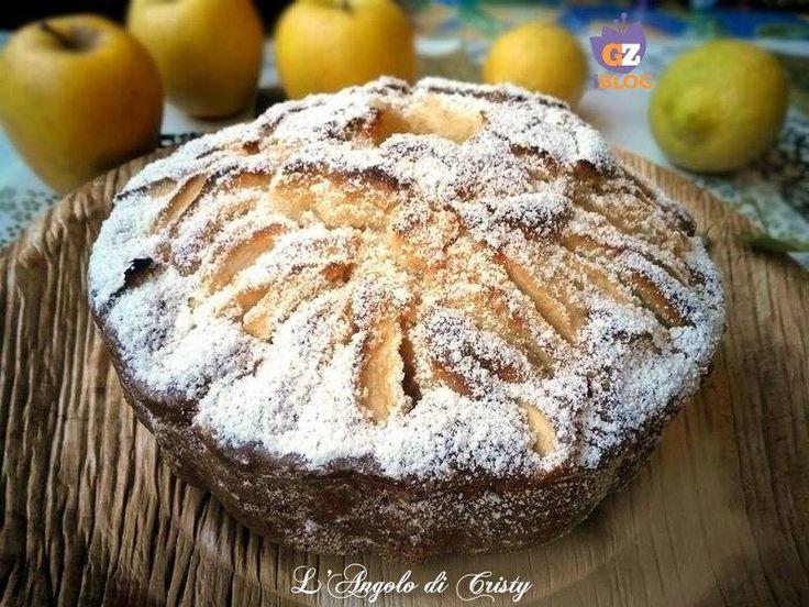 La torta di Nonna Papera..Una ciambella soffice alle mele velocissima e facilissima da fare , ottima per la colazione o la merenda!!