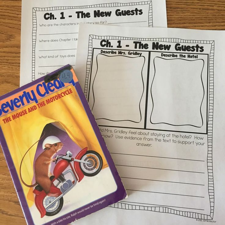 Reading enrichment: The Mouse and the Motorcycle novel study