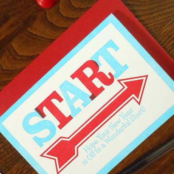typographie, j'espère que votre nouvelle année est cassé à un merveilleux début pack/6 cartes allégories carte flèche rouge bleu nouvel an happy new year