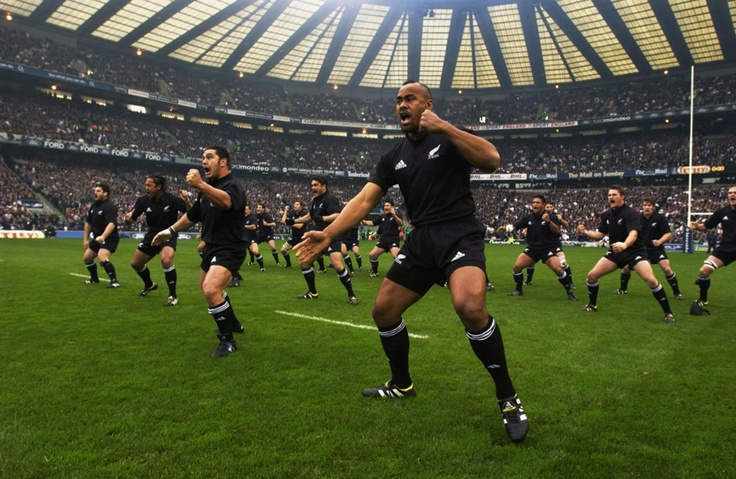 """Even the national New Zealand rugby team have a team dance called """"The Haka"""" which they do before every game i front of their opponents."""