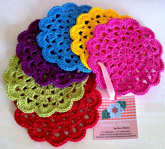 crochet gift idea, crochet coasters