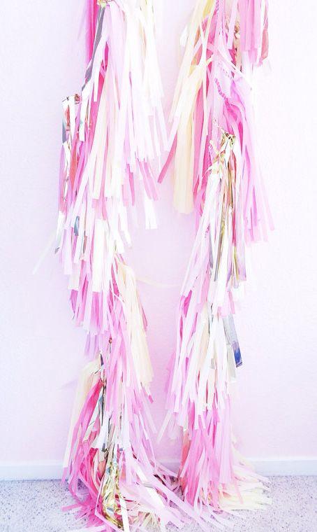 Pink Flamingo Tissue Paper Balloon Tassel
