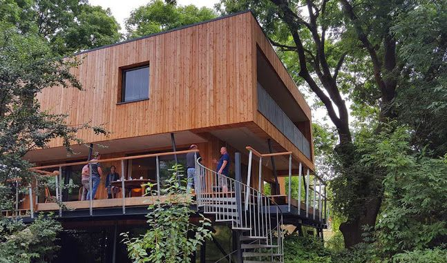 Architecture, Treehouses, treehouse, green architecture, England, passive house, Gallery, Passive House certification, Green Building, protected area, Dursley treehouse, Millar + Howard Workshop, building permit