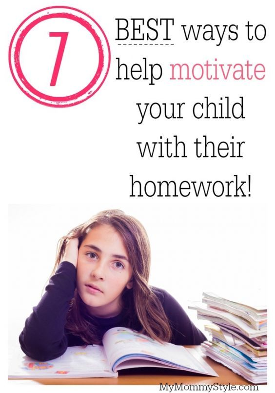 Best ways to help motivate your child with their homework: