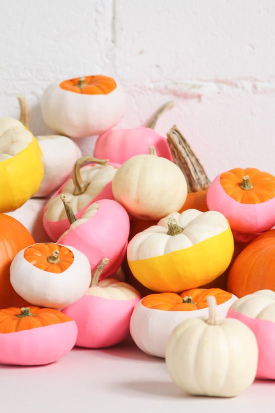 DIY balloon dipped pumpkins