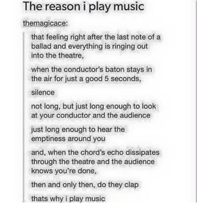 It's not my only reason but it's a dang good one haha<<<also one of the reasons I do musical theatre
