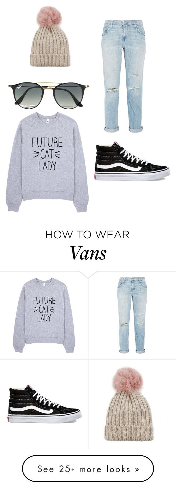 """""""Casual Day❤️"""" by kennedydrew2016 on Polyvore featuring Current/Elliott, Ray-Ban, Vans and Jocelyn"""
