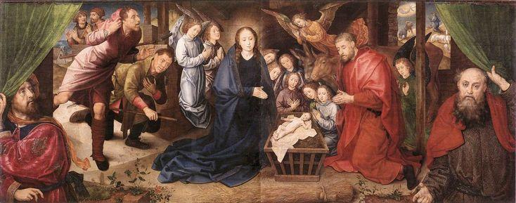 Adoration-of-the-shepherds-hugo-van-der-goes - Хуго ван дер Гус — Википедия Поклонение пастухов.