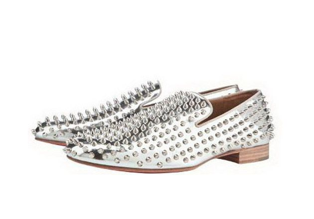 Louboutin- Silver Studded I'd die!