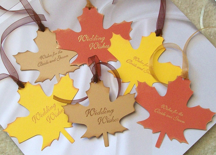 Wedding Wishing Tree Tags Leaves in a Variety of by paperpixie