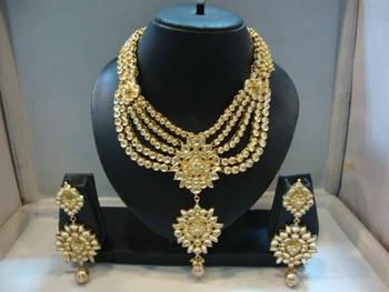Polki Wedding jewelry,  Kundan wedding necklace, bridal jewelry